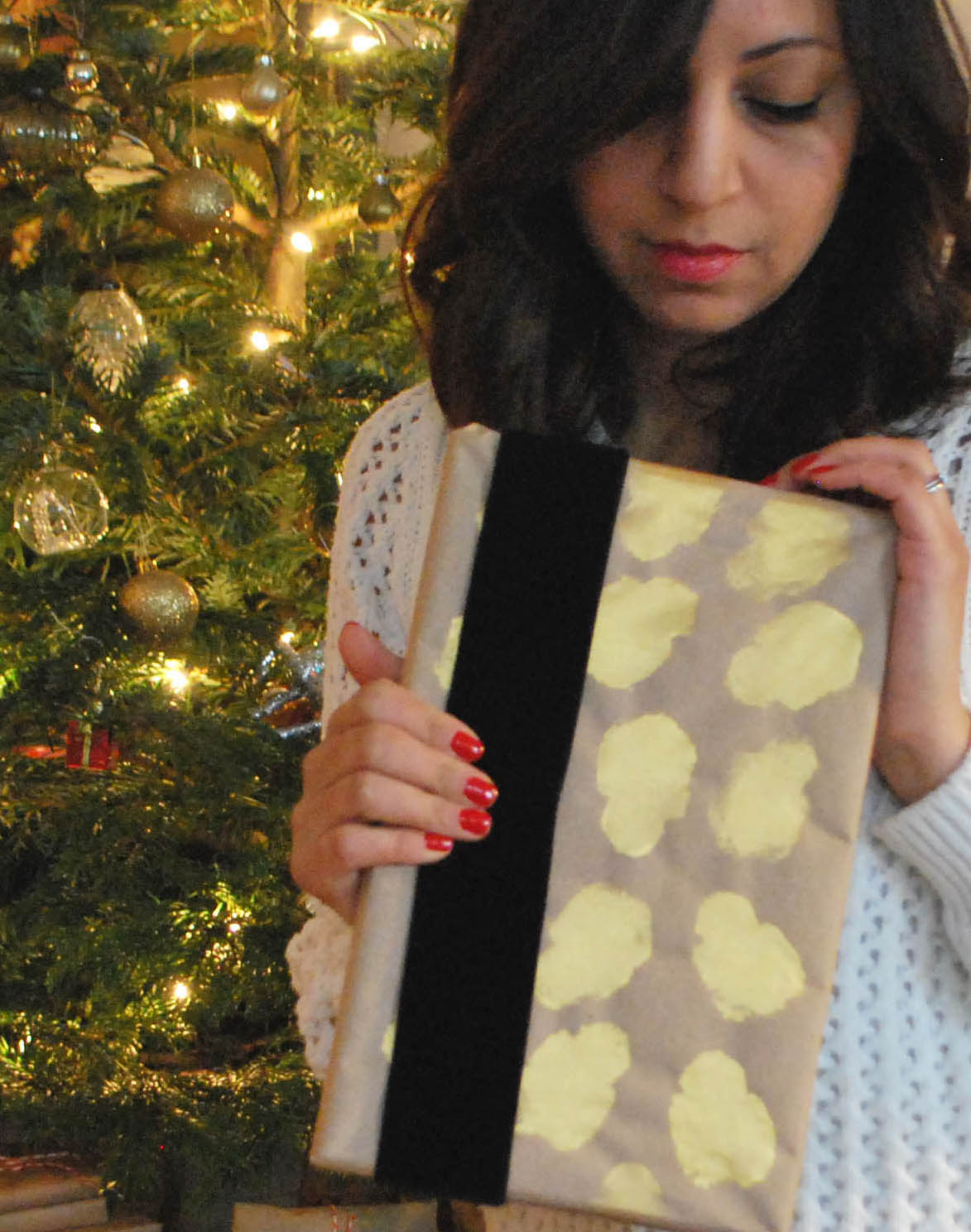 Brown paper wrapping glam