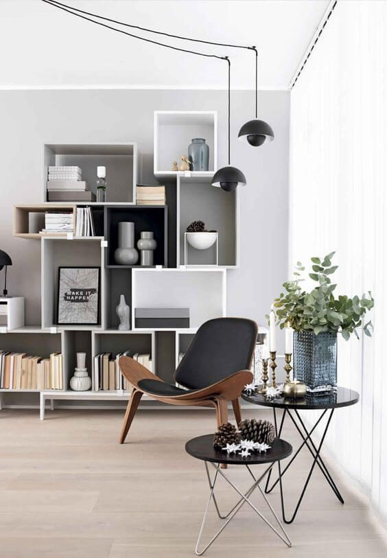 Modern layered with Scandi makes a great combination.  Image Source.
