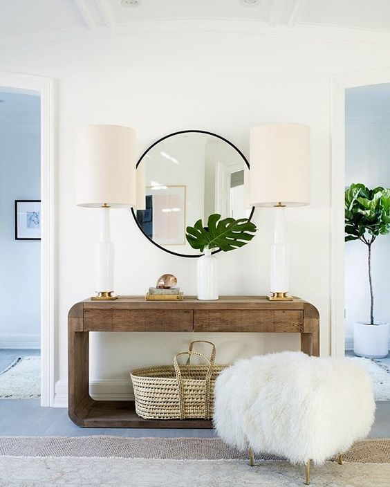 Clean lines are mixed with texture and natural materials for an Organic Modern look. Image Credit: webst.me