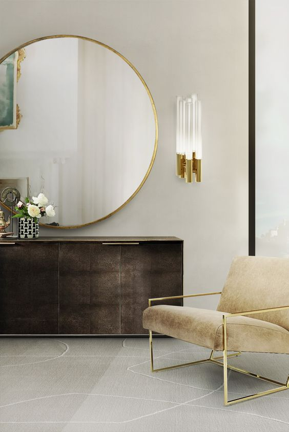 Glam Modern is the new take on old Hollywood glamour – clean modern lines are accented by gold metallics and plush fabrics like velvets and silks. Image Credit: Luxxu