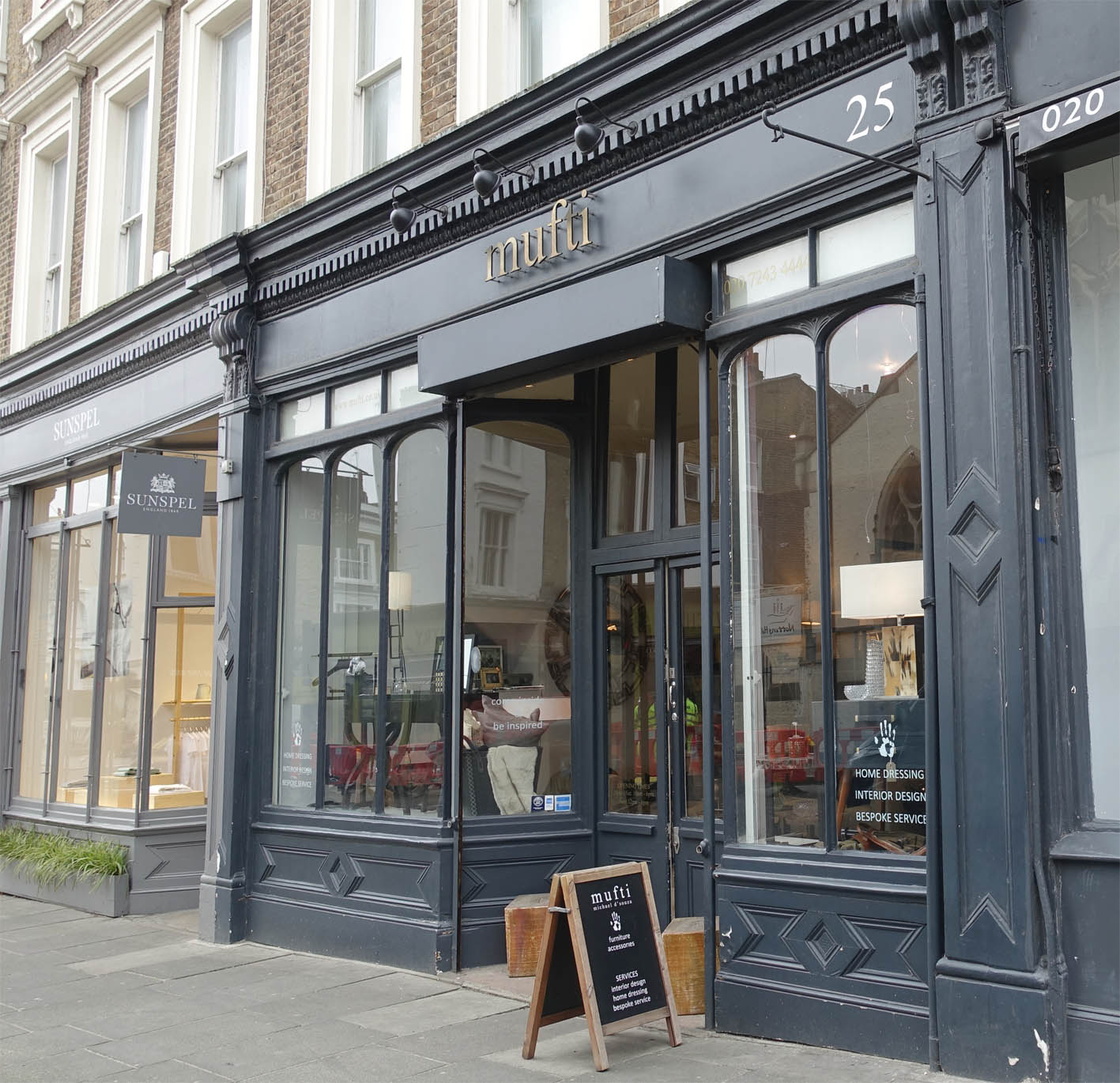 You can find Mufti on Kensington Park Road in vibrant Notting Hill.