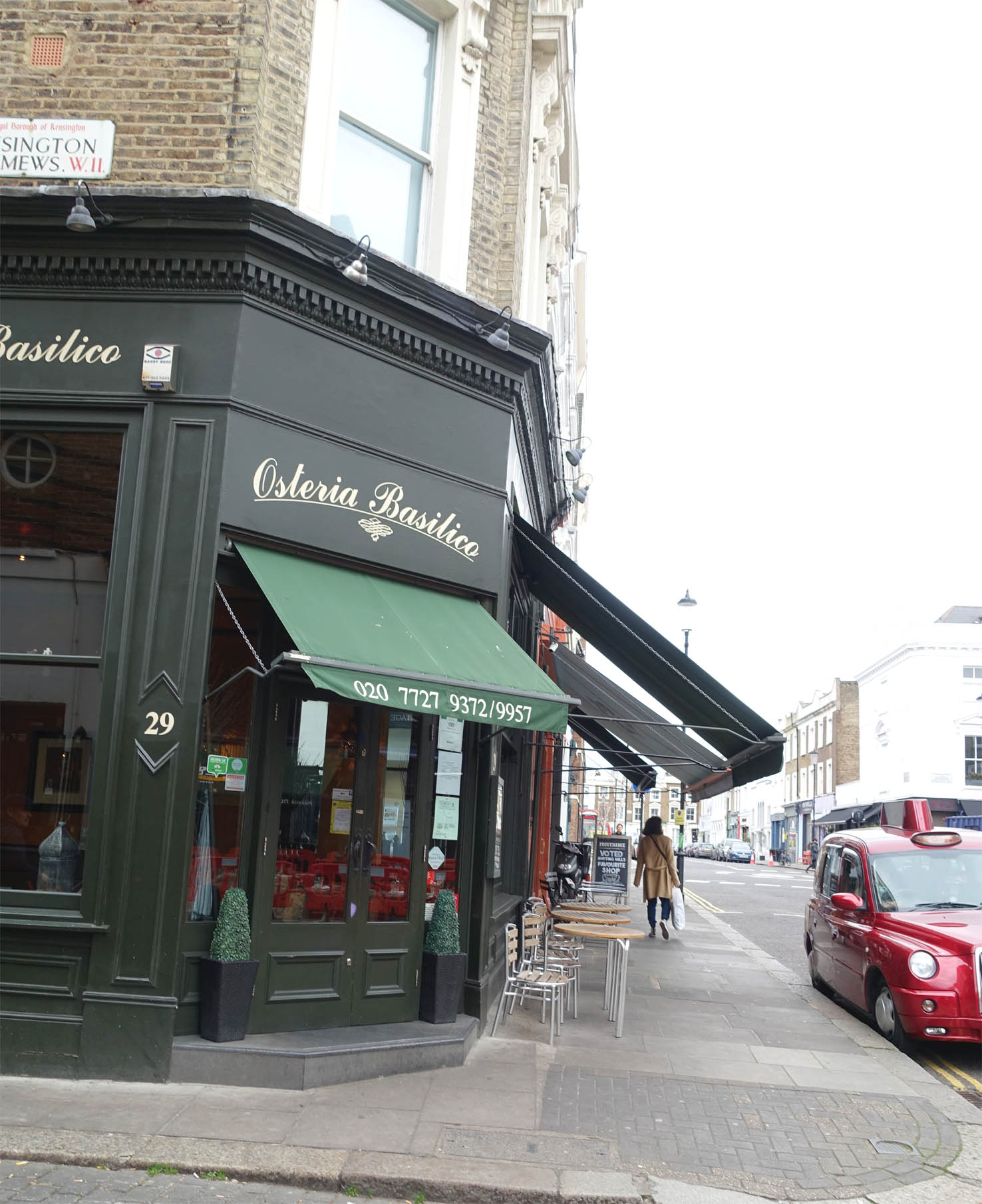 Osteria Basilico is one of Michael's favourite local restaurants.