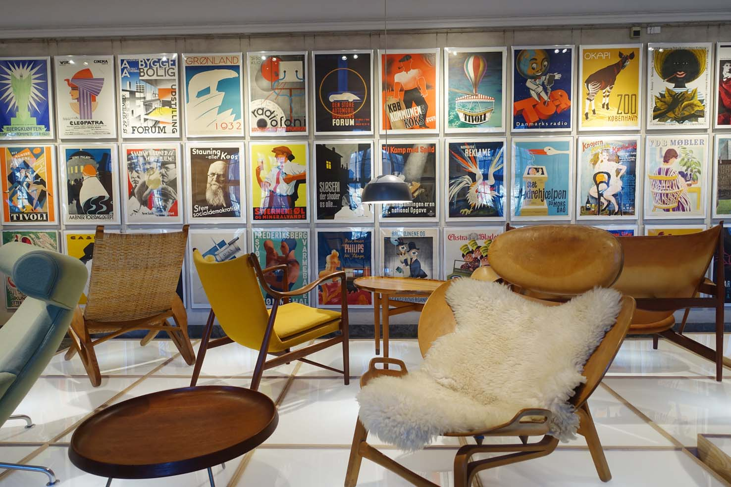 Just some of he vast collection of chairs at the Design Museum, Copenhagen.