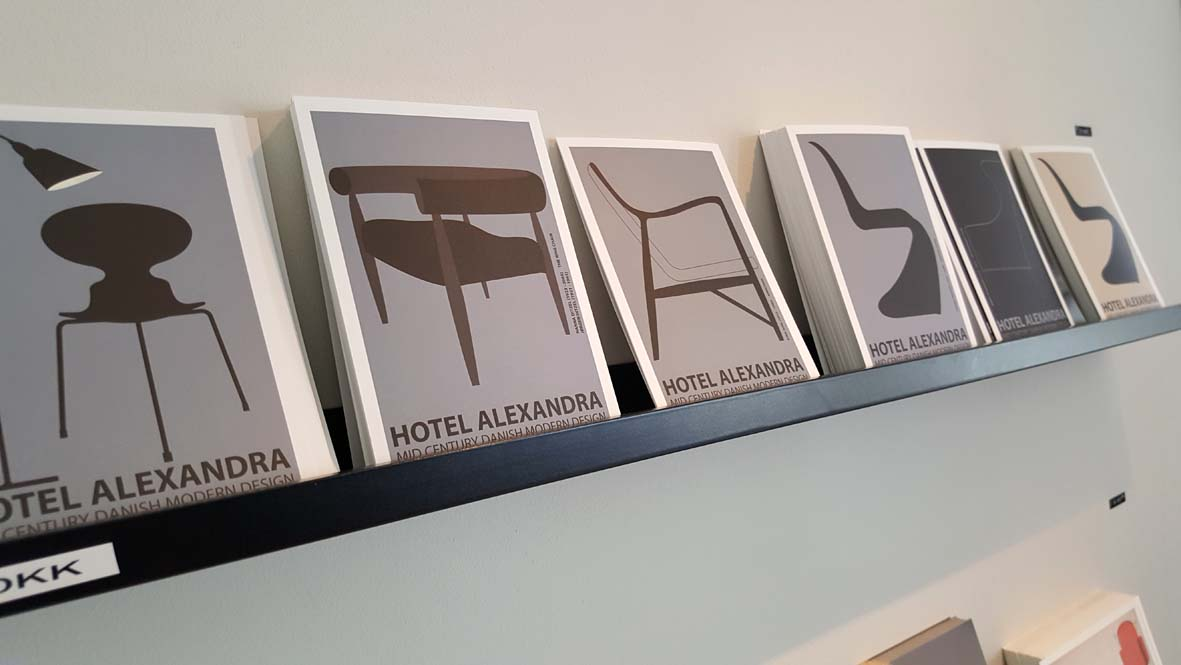 Hotel Alexandra even has its own postcard selection dedicated to Danish chair design!