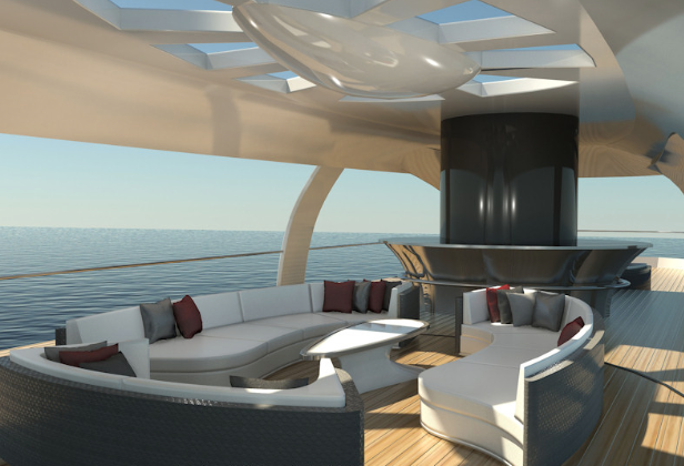 In collaboration with the creator Alastair Callender, SHDS were invited to design all the interior spaces of this beautiful and unique concept design. Soliloquy is a Supergreen Superyacht and was exhibited at the Abu Dhabi Superyacht Show to demonstrate its use of solar and wind power to propel itself.