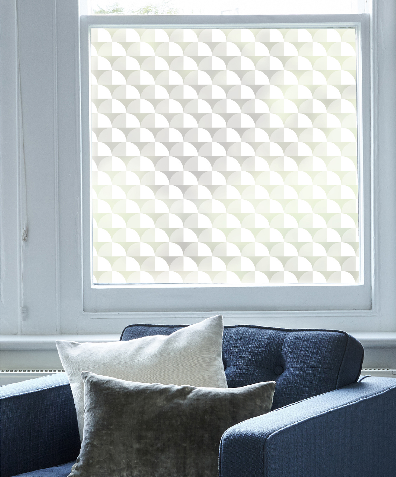 The  Scallop window film  makes a bold statement whilst providing privacy and still letting light through at the same time.