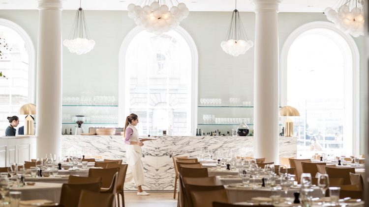Spring Restaurant in London designed by architecture practise Stuart Forbes Associates in collaboration with Briony Fitzgerald