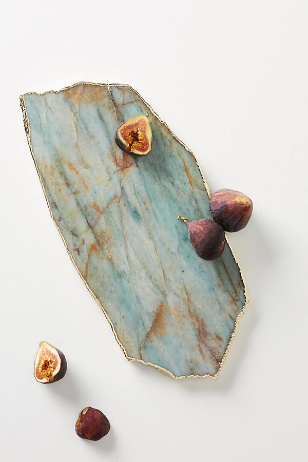 The Zaire Agate Cheese Board in Green from Anthropologie