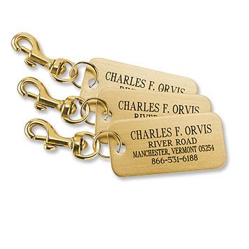Brass Luggage Tags