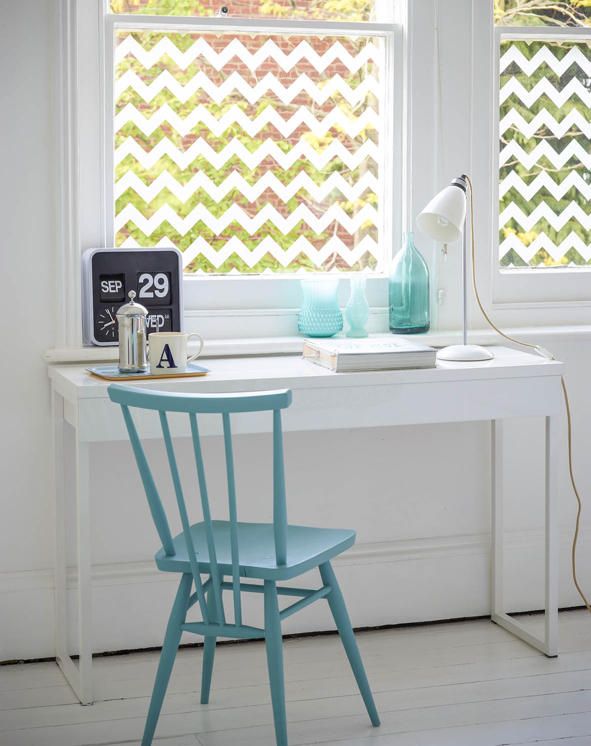 A zig zag design from the Window Film Company's wide range