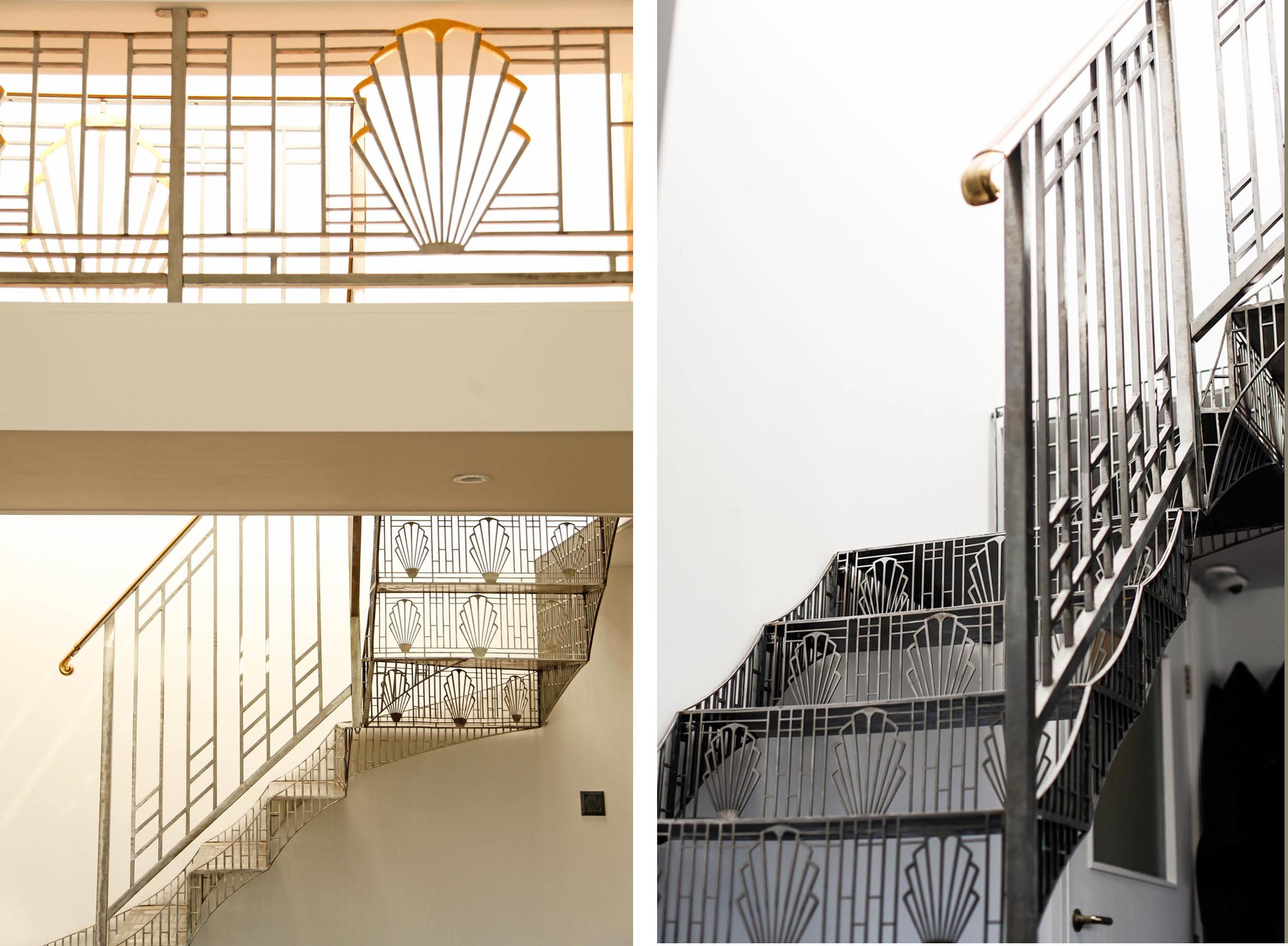 The stunning bespoke metal staircase designed and made by Jaz Asbury