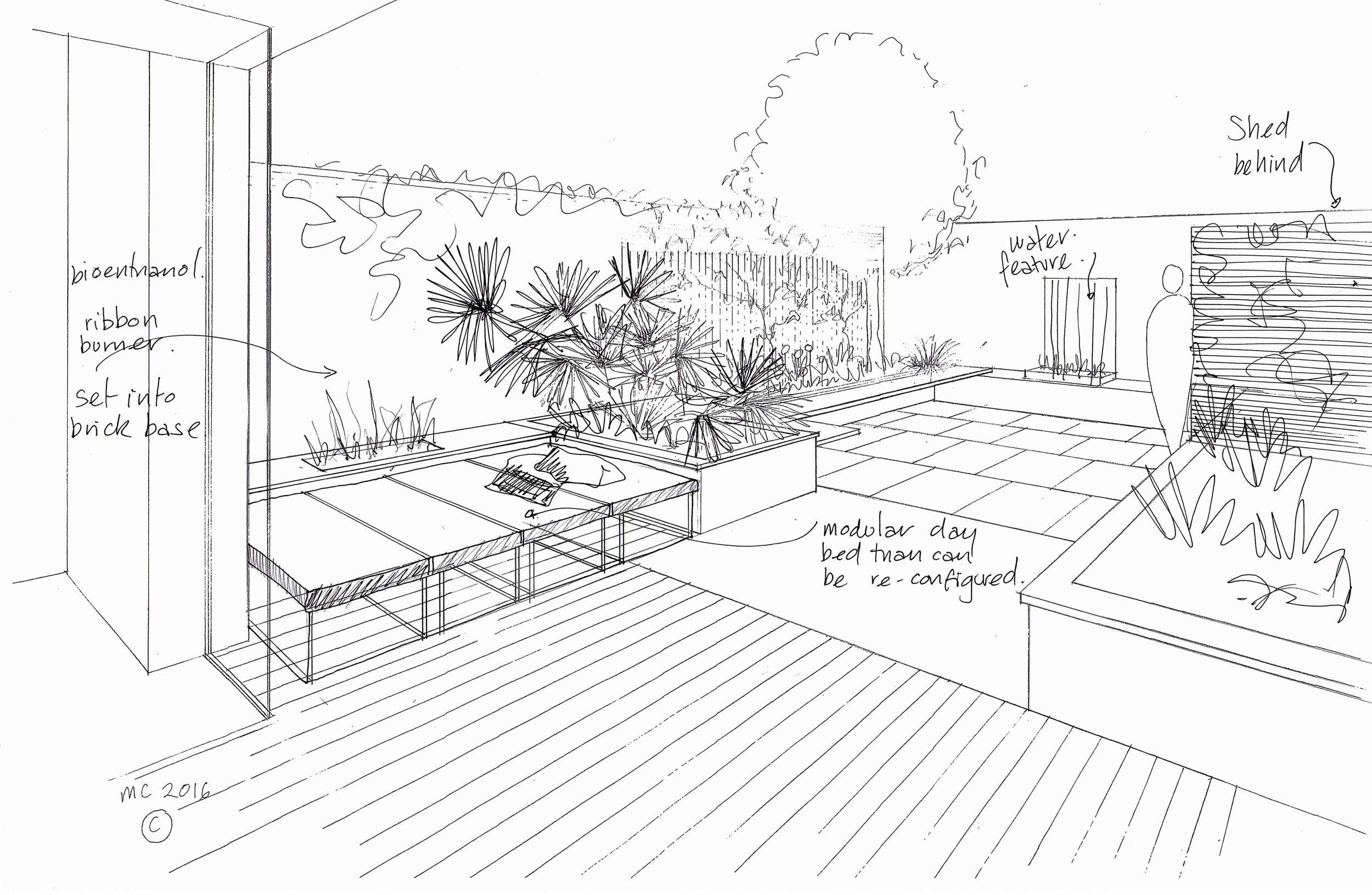The original garden design by Grozone Landscape Architects