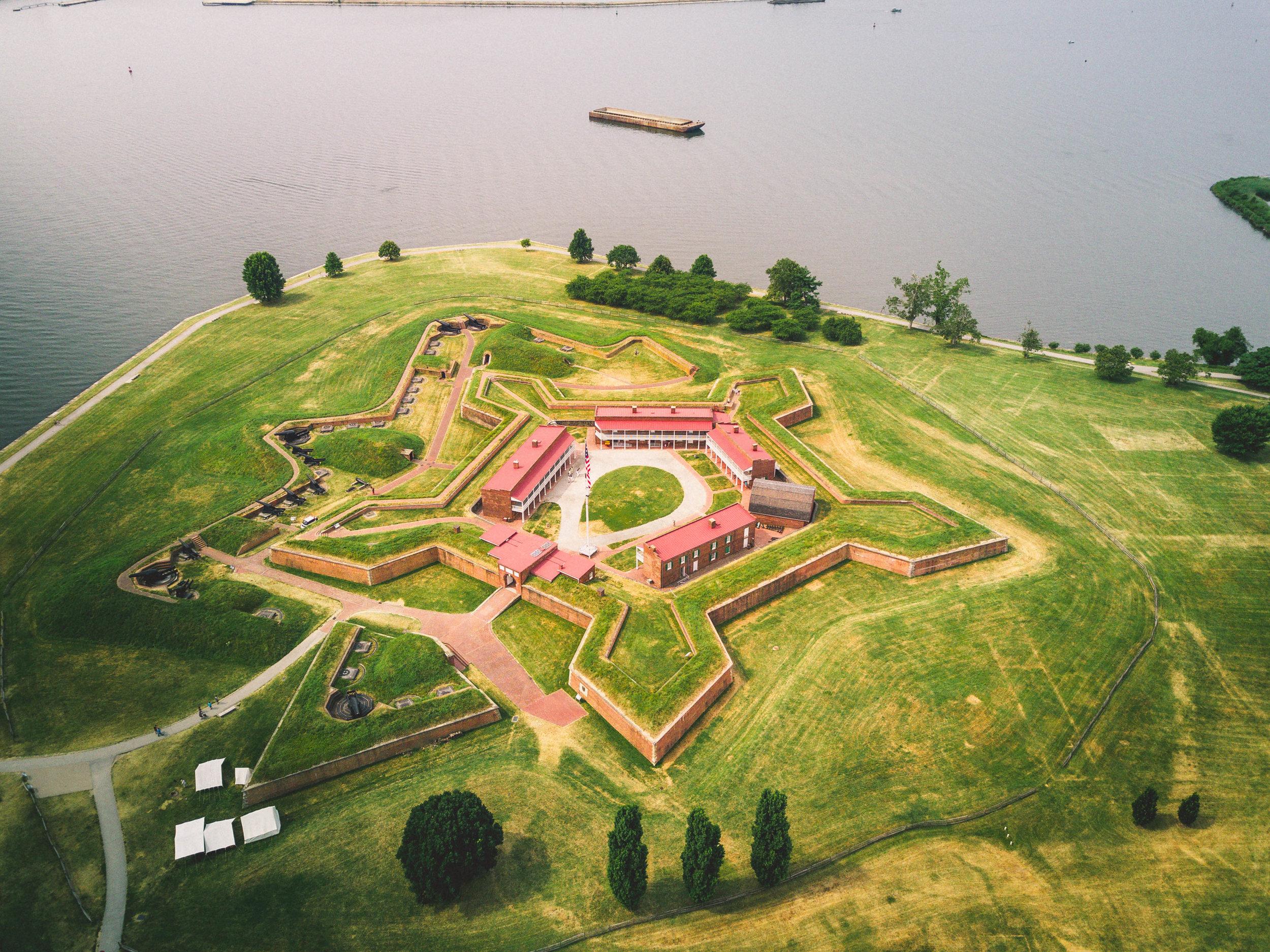 fort mchenry baltimore aerials