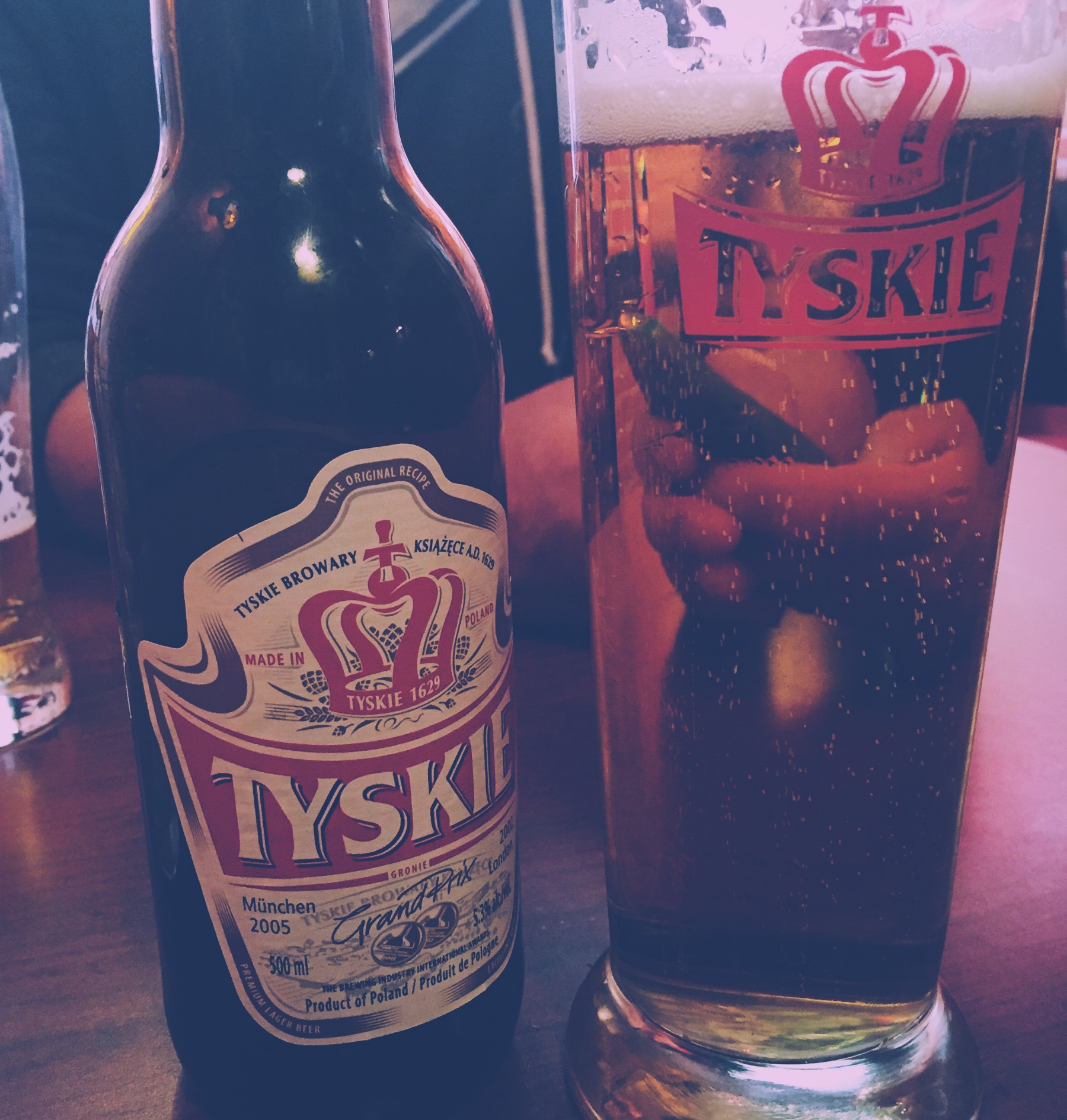 Enjoying some Polish beer with Dad on Roncesvalles