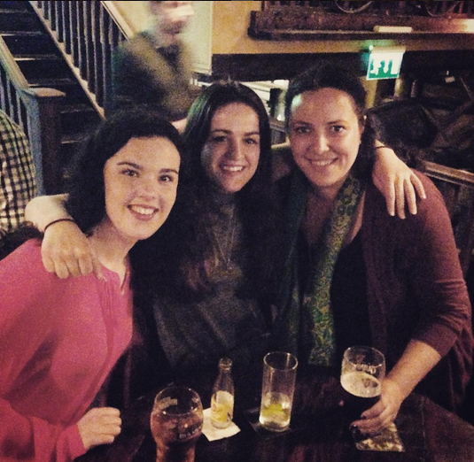 First pub of the weekend with Alex and Tristen! (Rachel took the photo.)