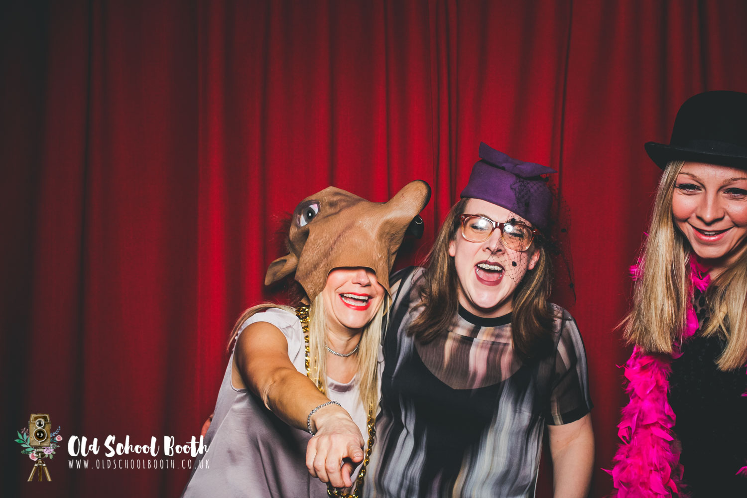 laughing photo booth