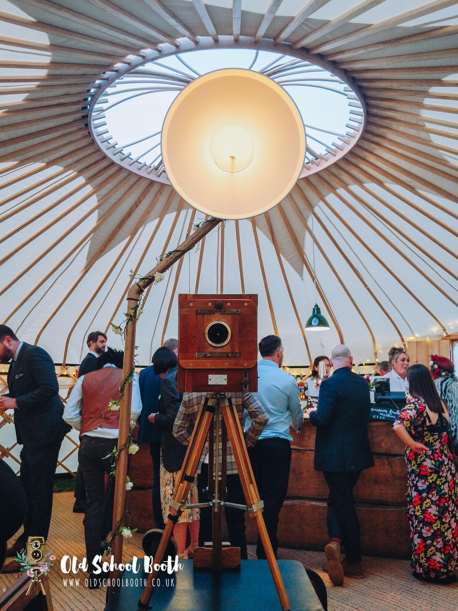 vintage photo booth yurt wedding
