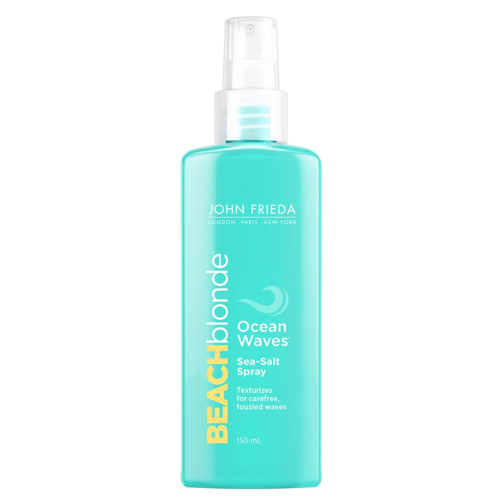 Back by popular demand, John Frieda's cult classic - Beach Blonde Ocean Waves Sea Salt Spray, £5.89.
