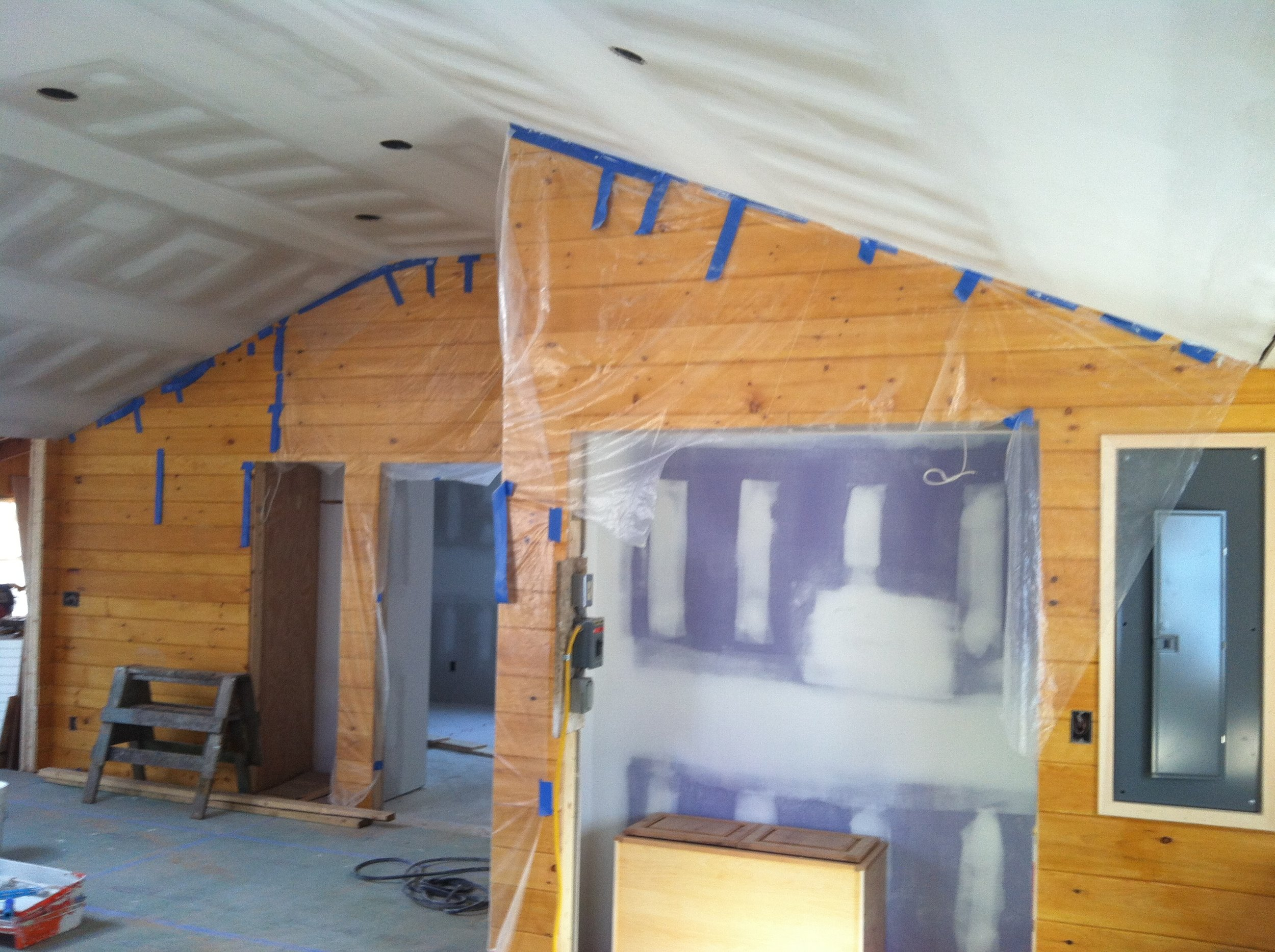 Major cottage renovation in Boothbay, Maine.