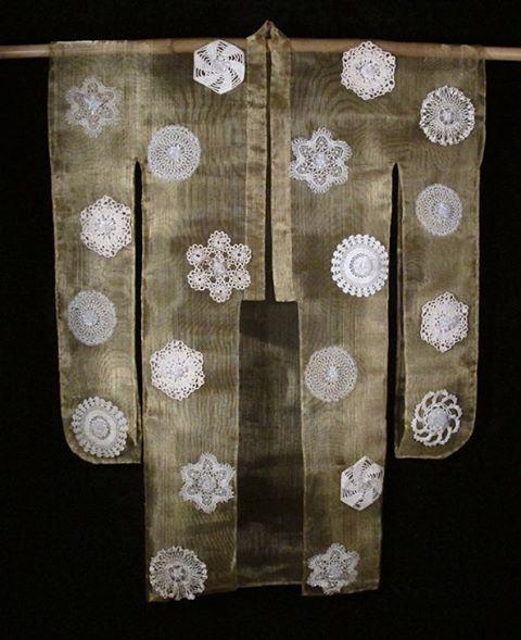 """And """"beauty surrounds"""" #glass #kimono #brass #lace"""