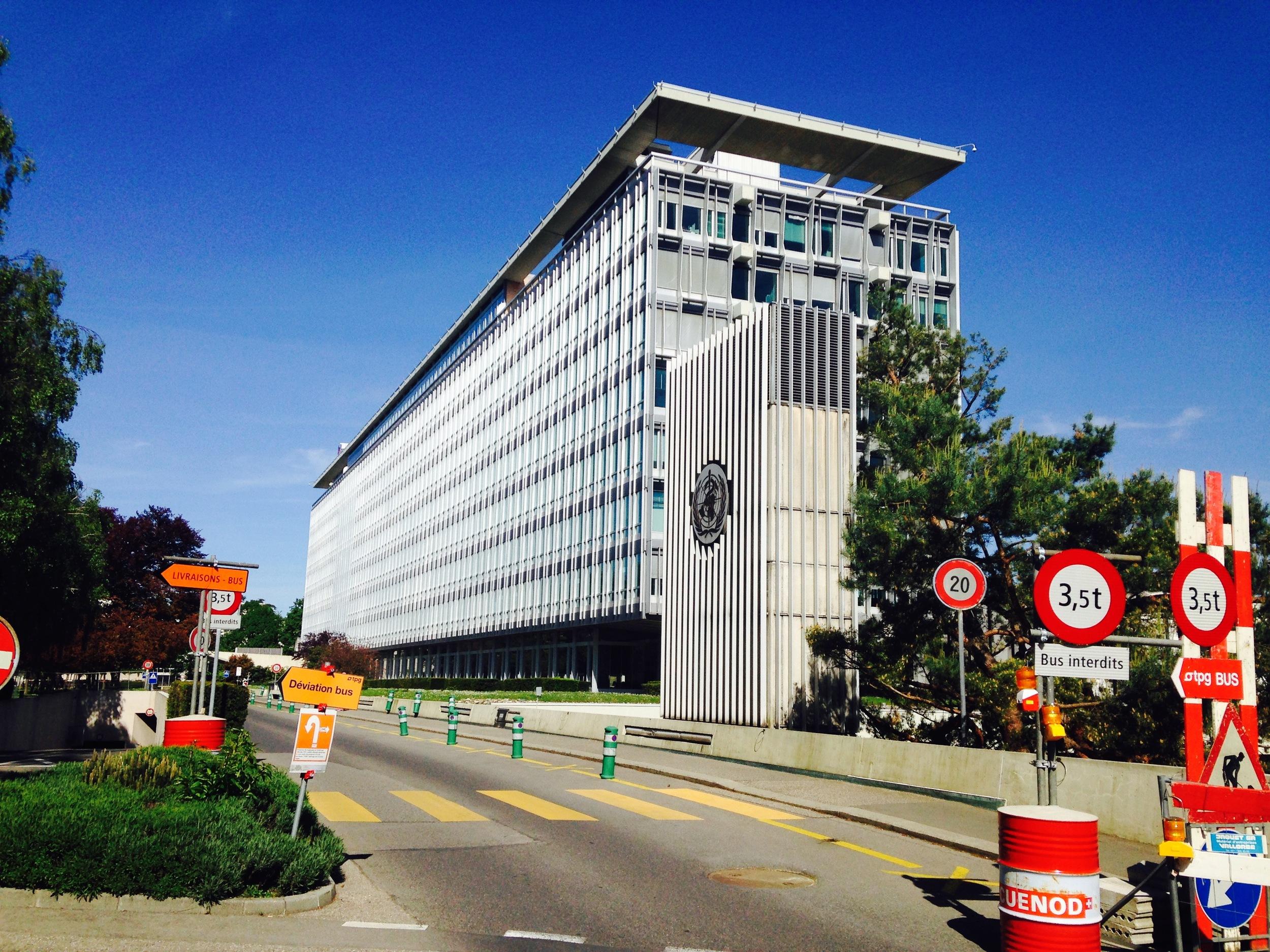 The World Health Organization Headquarters in Geneva, Switzerland