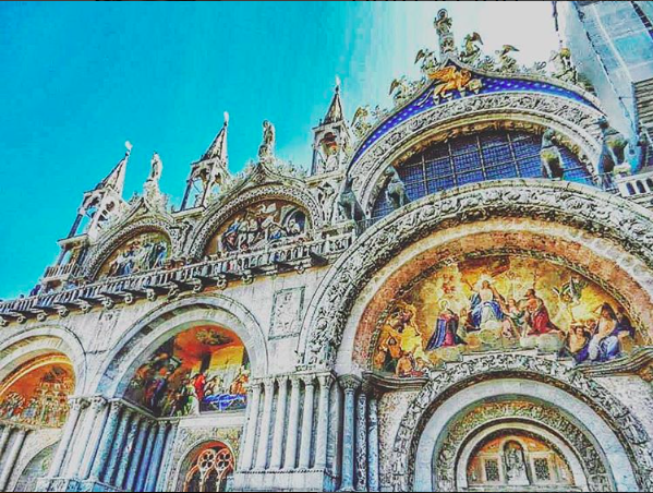St. Mark's Basilica (strategically cropped to exclude the masses of tourists and 100 degree heat)