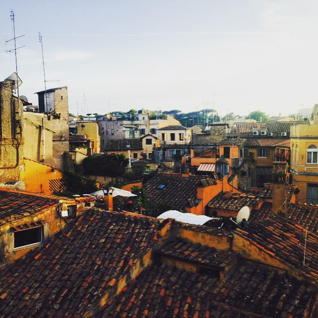 View from my rooftop deck in Rome