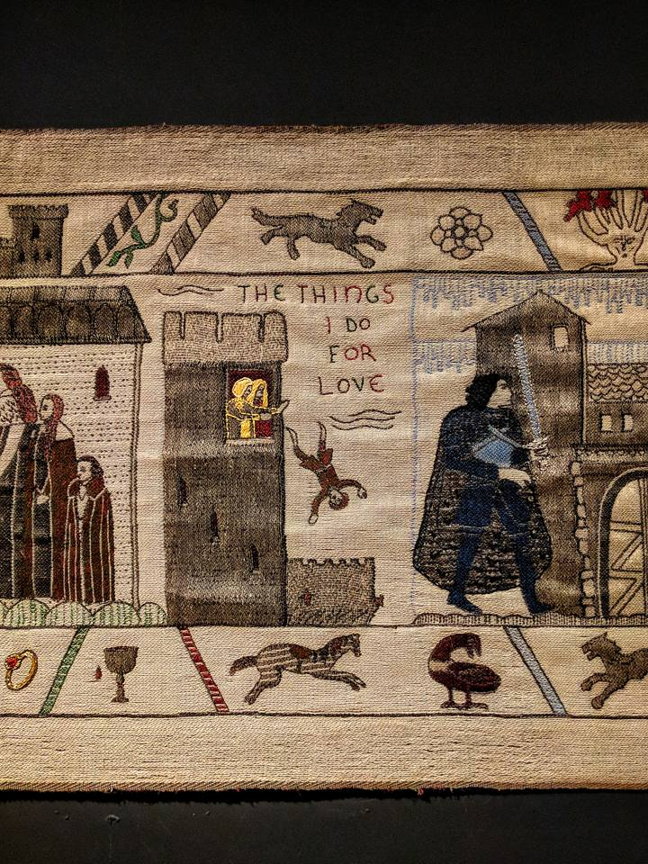 Hold Up... - Visiting in the near future? The Ulster Museum in Belfast will be displaying the Game of Thrones tapestry through August 2018 (it's also viewable online!). The hand-embroidered tapestry is modeled the Bayeux Tapestry, that thing you learned about way back in middle school history class - though this version notably contains a fair amount more nudity.