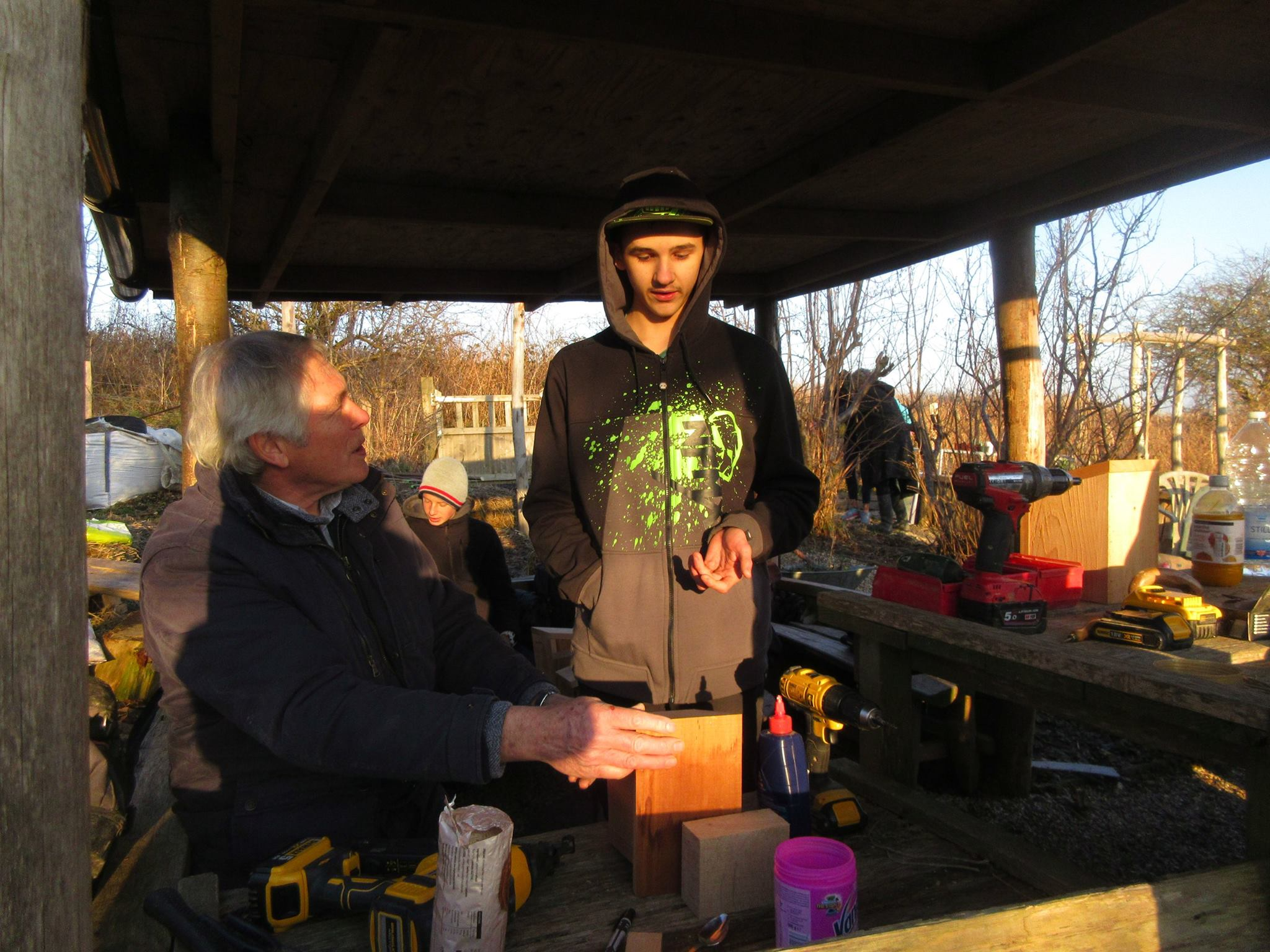 Bird boxes with Jim from the Monday Group