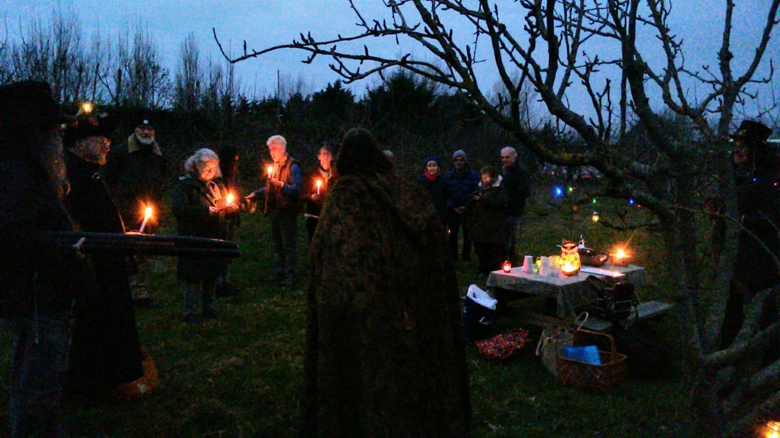 Wassail at Ringmer Community Orchard 2019