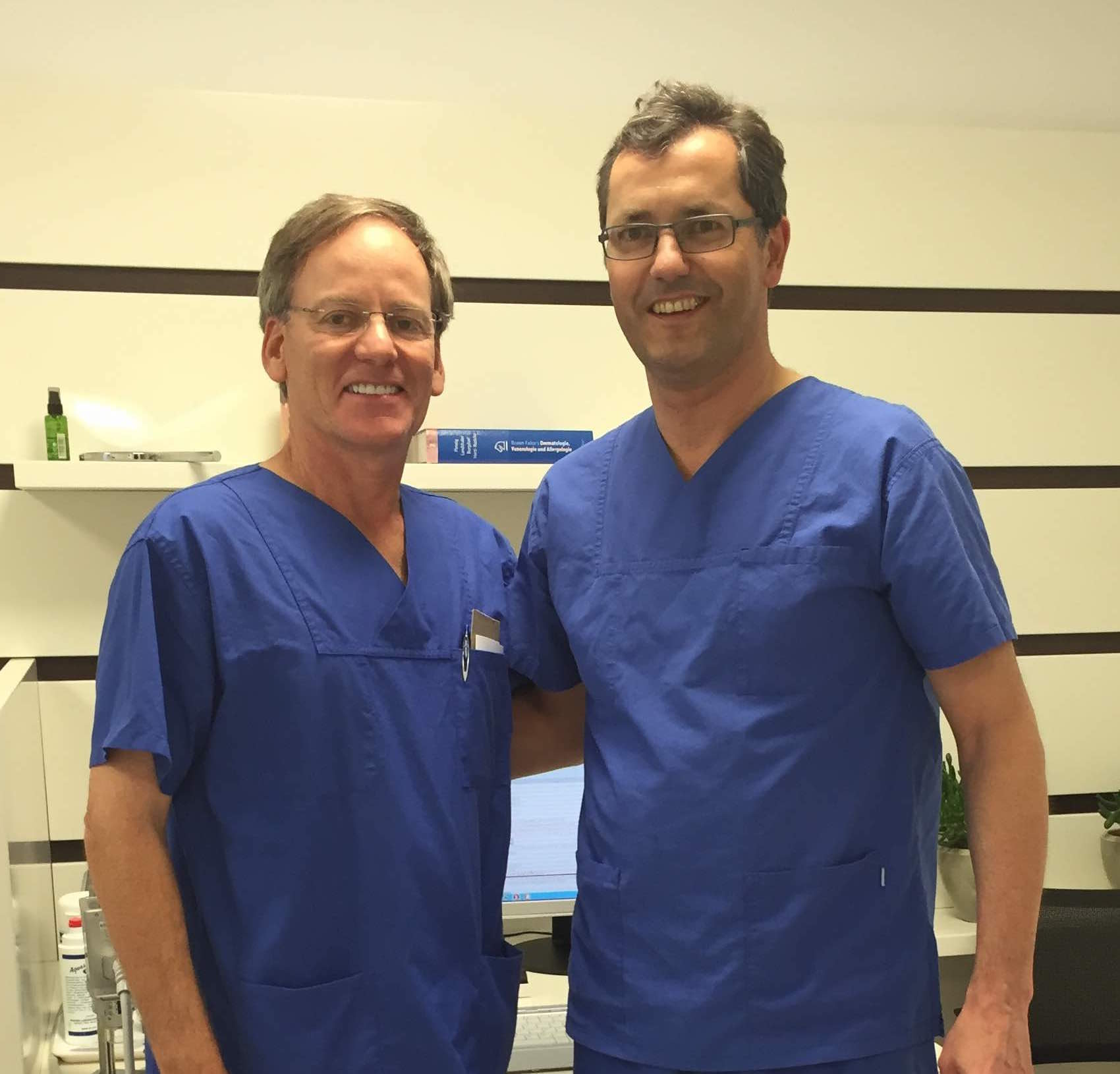 Dr. Tapper (left) with Dr. Rapprich (right) in Bad Soden, Germany