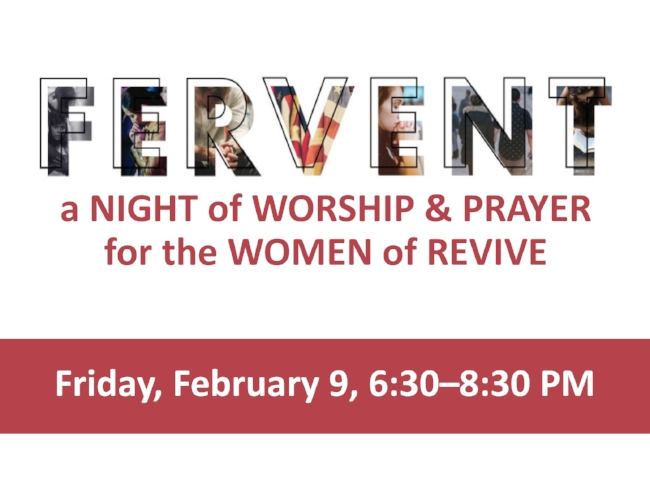We will corporately worship our Lord and pray for each other, our leaders, our cities, our state and our world.  Sign up in the Foyer on Sunday, January 28 and February 4 (so we can plan accordingly for preparing materials).  The goal of any gathering isn't simply to have an event. It's not simply to sing songs or have an emotional evening of prayer. The goal of a gathering is the GLORY OF GOD.