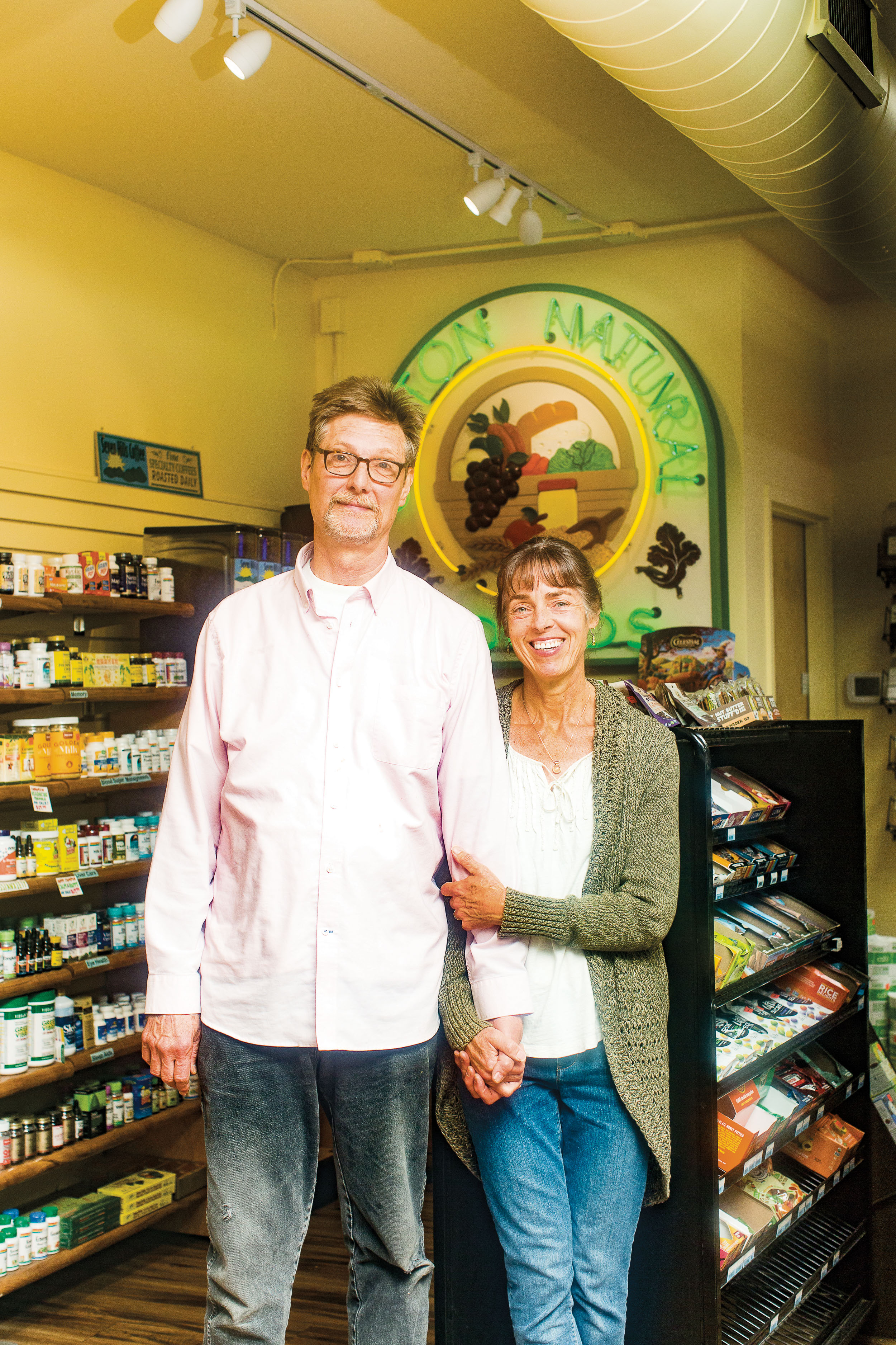 Bob Craig and Aline Kuhl, Clifton Natural Foods owners.