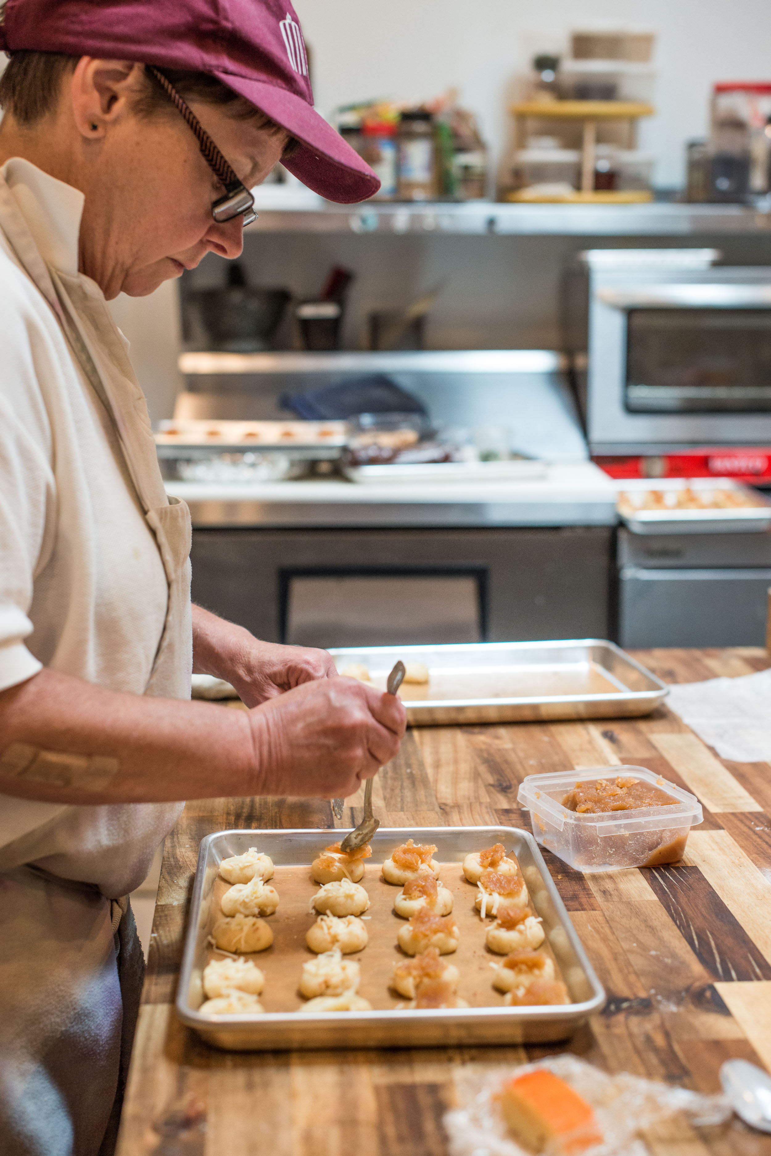 Chef Jan makes small bites paired for weekly wine tastings