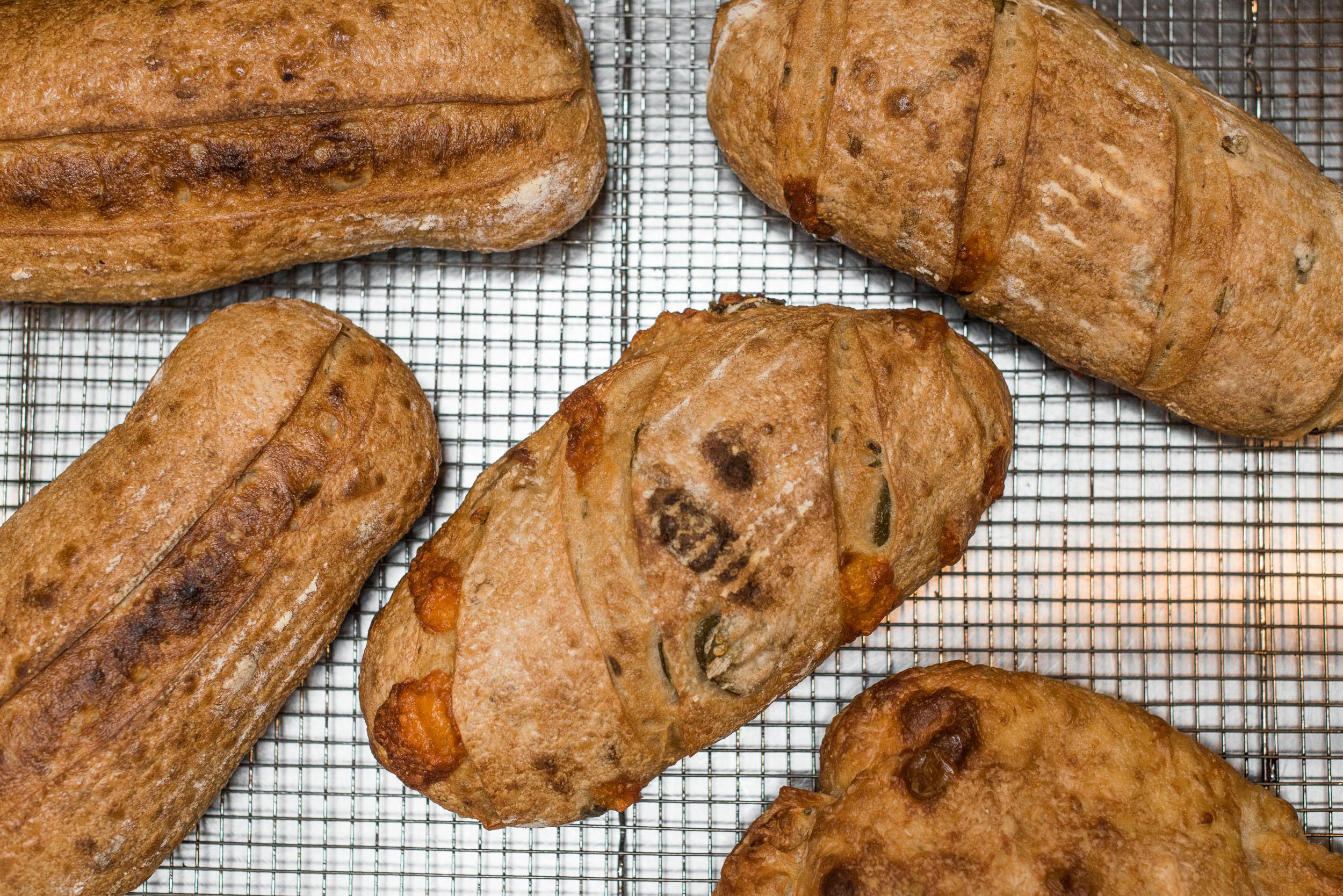 House-made sourdough breads and focaccia