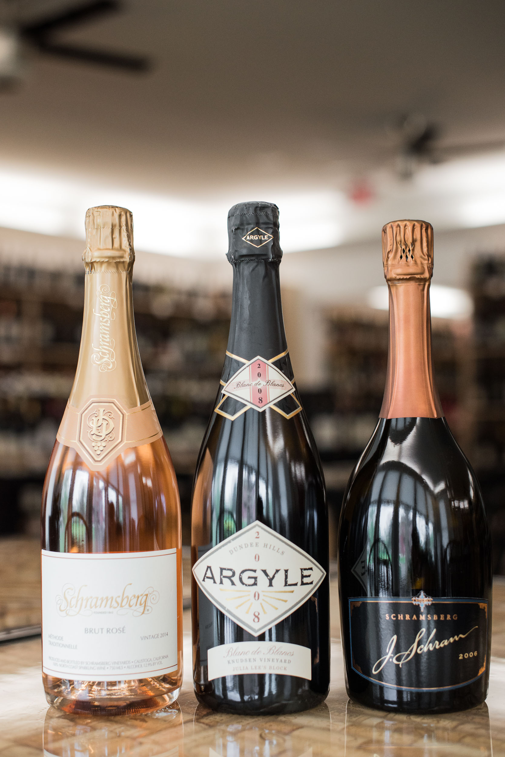 A wide selection of American sparkling wines