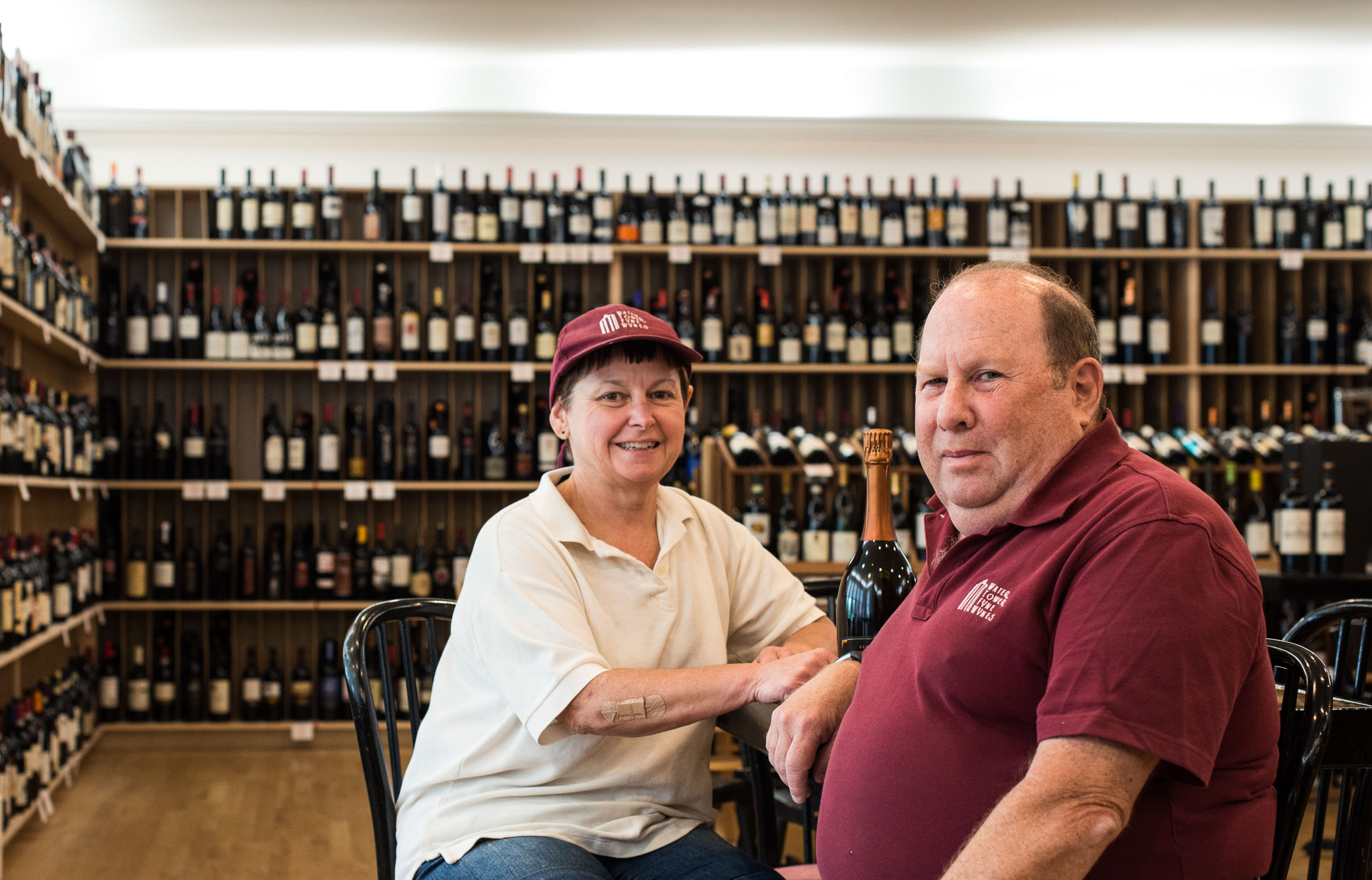 Owners, Chef Jan and David Lazarus