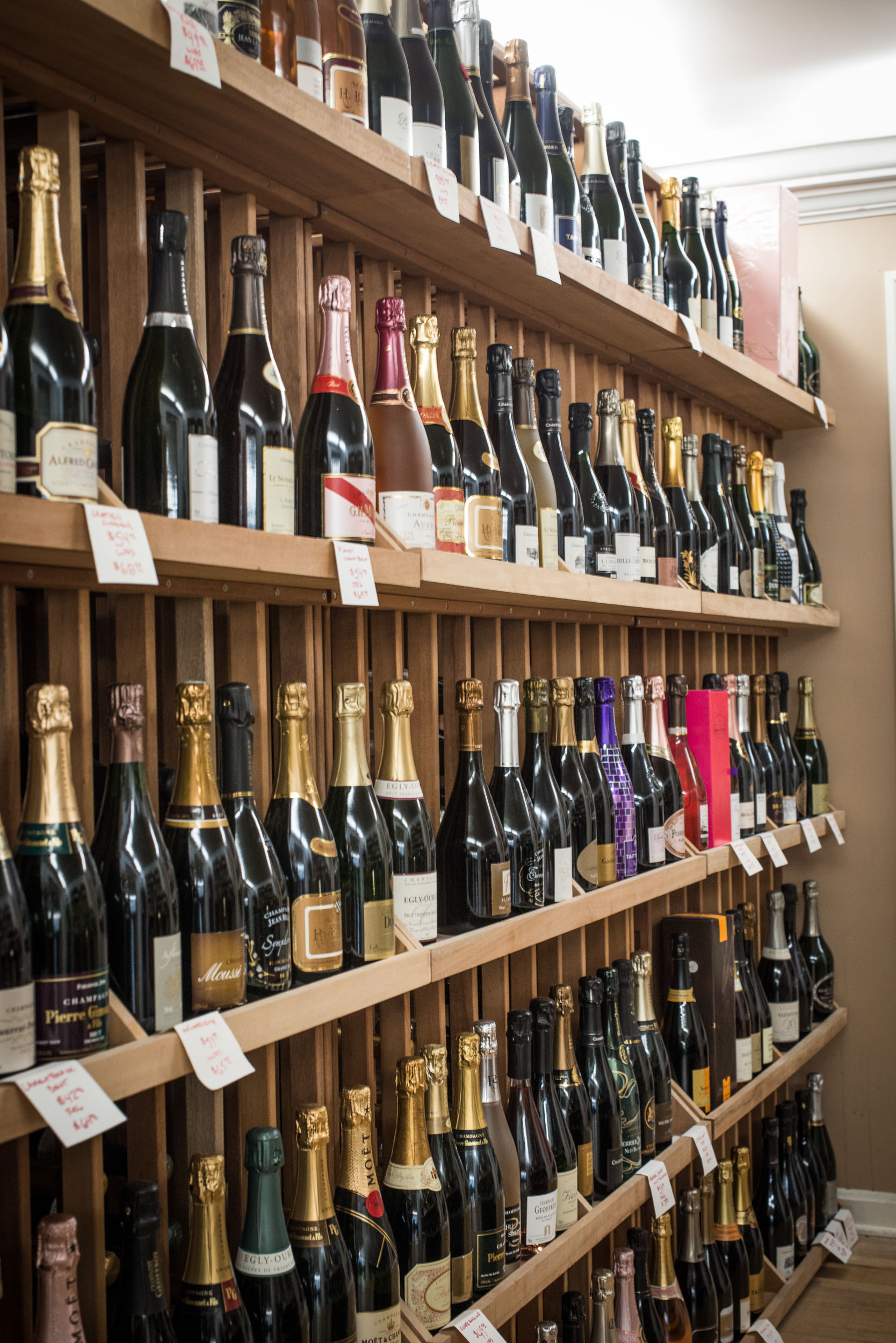 One of the largest Champagne selections in the region