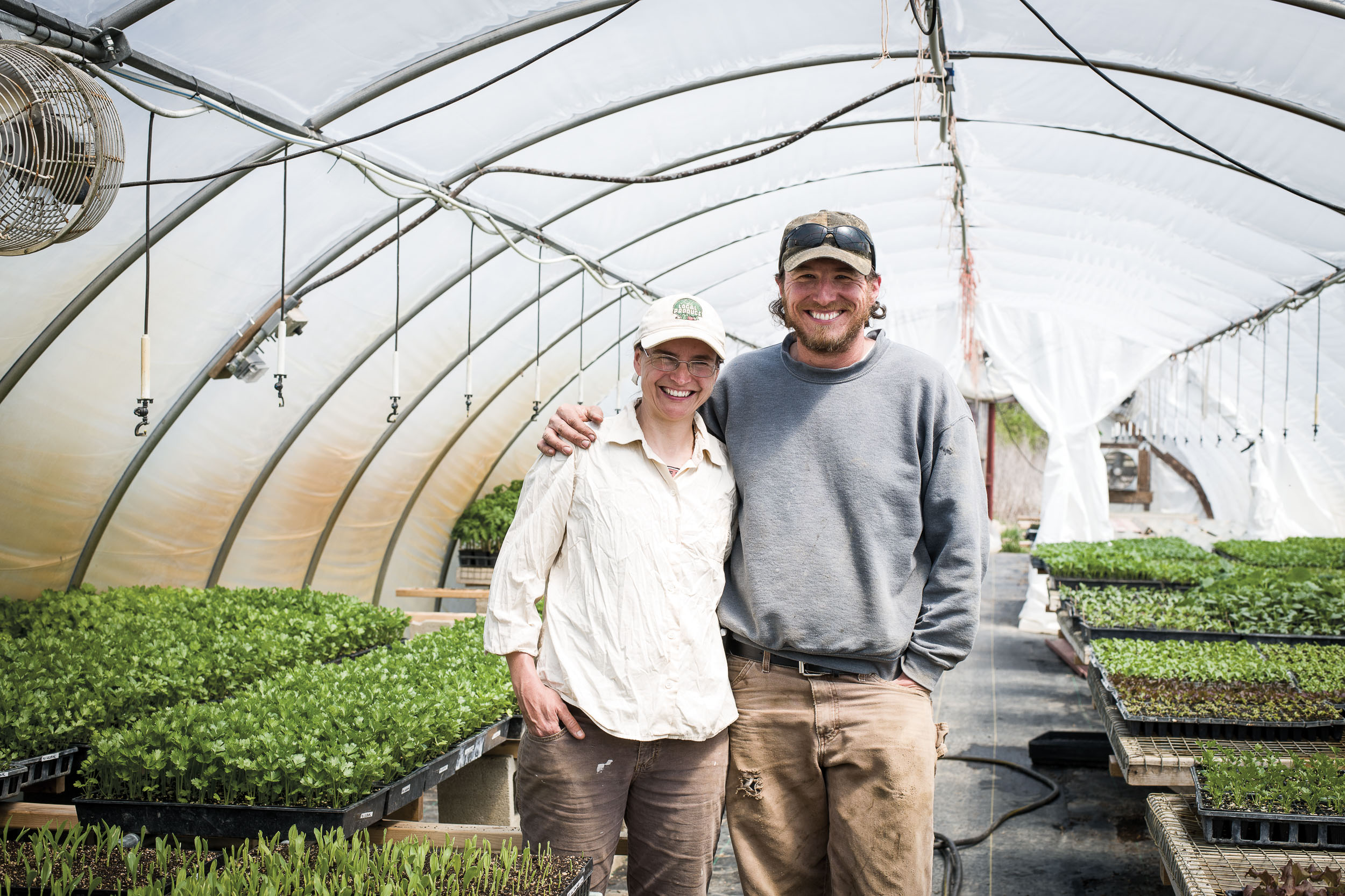 Emily and Ben Jackle built their expertise through internships in other states, then established Mile Creek Farm in New Lebanon, OH. Now they mentor newbie farmers.