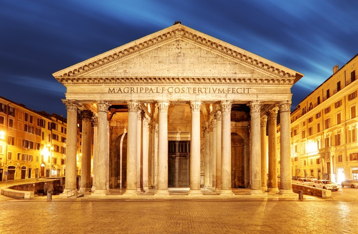 The Pantheon: One of the best preserved buildings in Rome which dates back nearly 200 years.