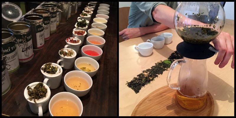 Trying ALL the Tea + a goldfish bowl Darjeeling tea.