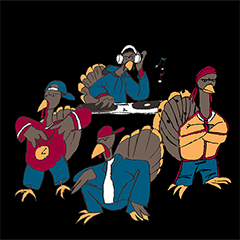 What is the collective noun for turkeys?    A Gang, Rafter or a Posse!!