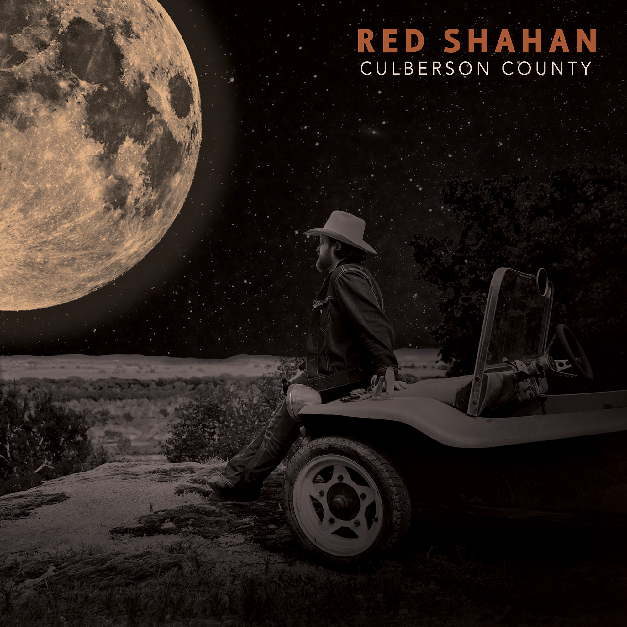 Cover Art for Red Shahan's record Culberson County   Album Artwork by Morgan Avary | Cover Photography by Scott Slusher