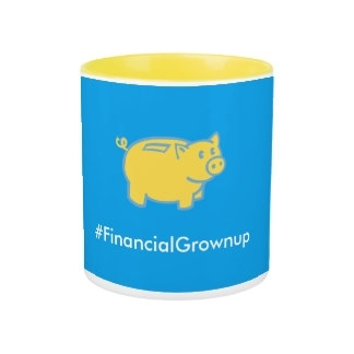 Two-tone #FinancialGrownup mug
