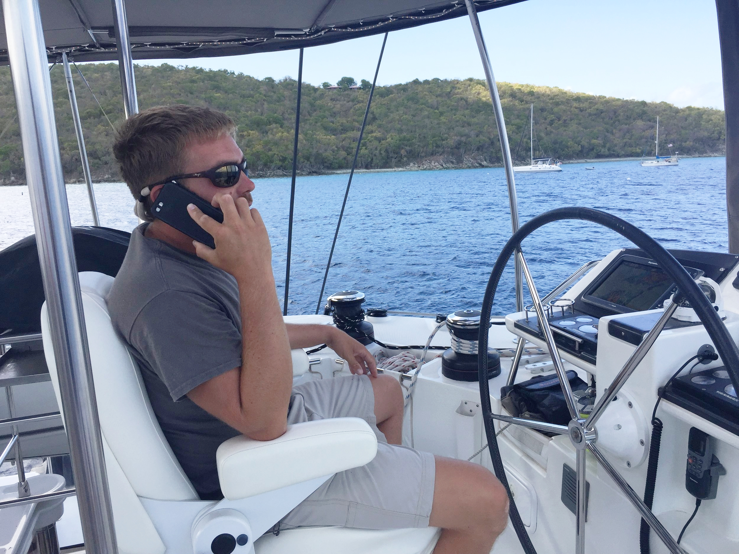 Bryan in the captain's chair