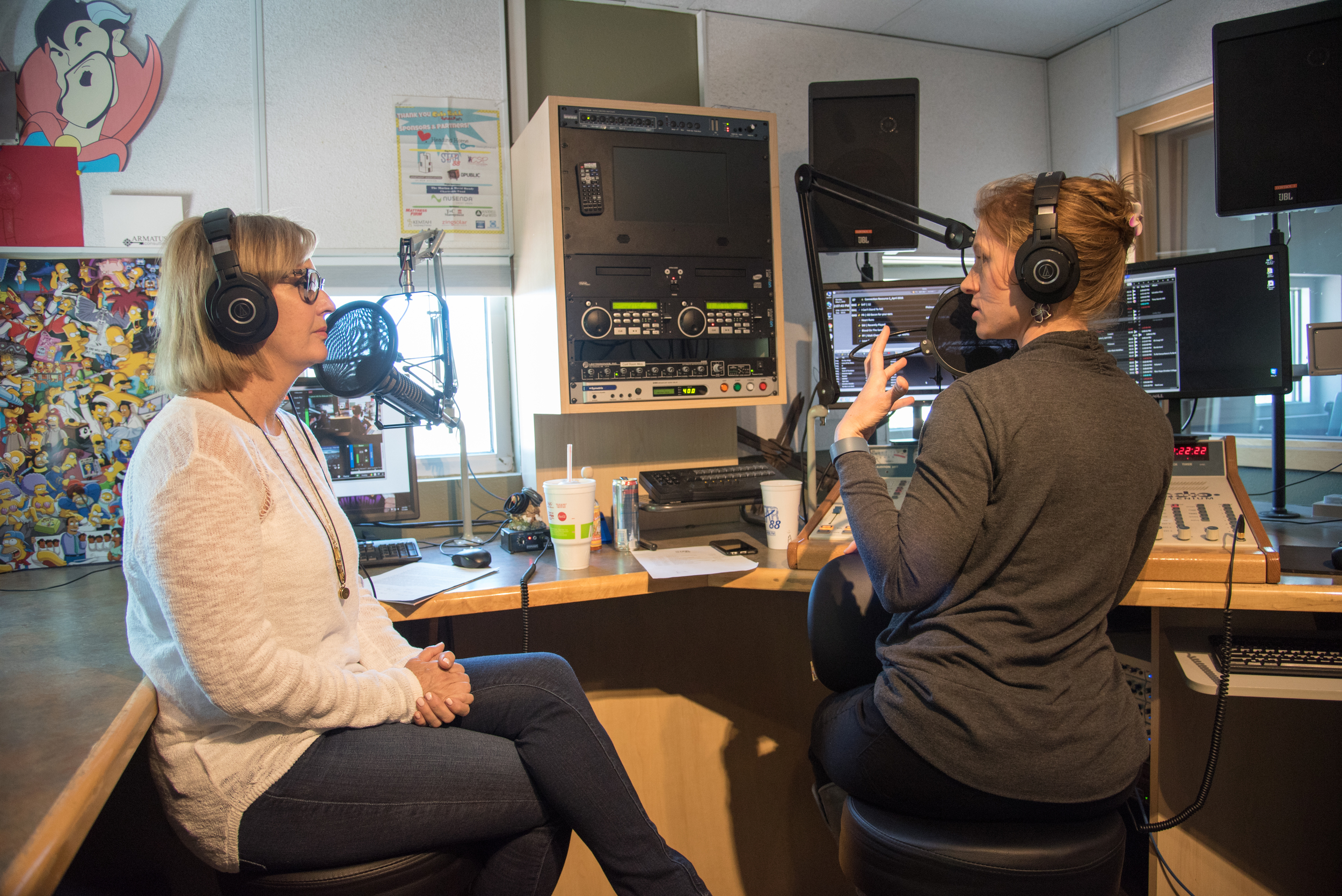 Interviewing Lenya Heitzig for a Reload Love radio special.