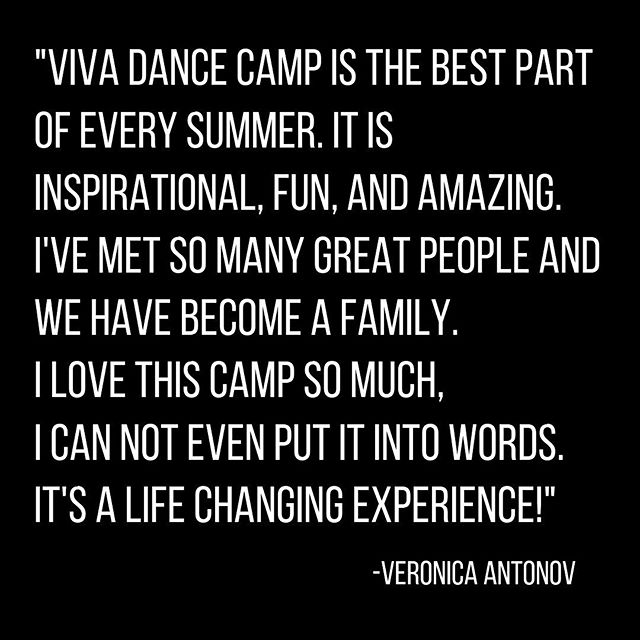 Here's what @veronica.antonov had to say about her experience at VIVA Dance Camp 2018 🔥 . . .  Find your Fire and experience VIVA Dance Camp 2019 🔥 . . .  #vdc #vivadancecamp #dancecamp #summercamp #summerintensive #danceworkshop #dancesport #dancers #dancersofinstagram #internationalballroom #internationallatin #njdance #nydance