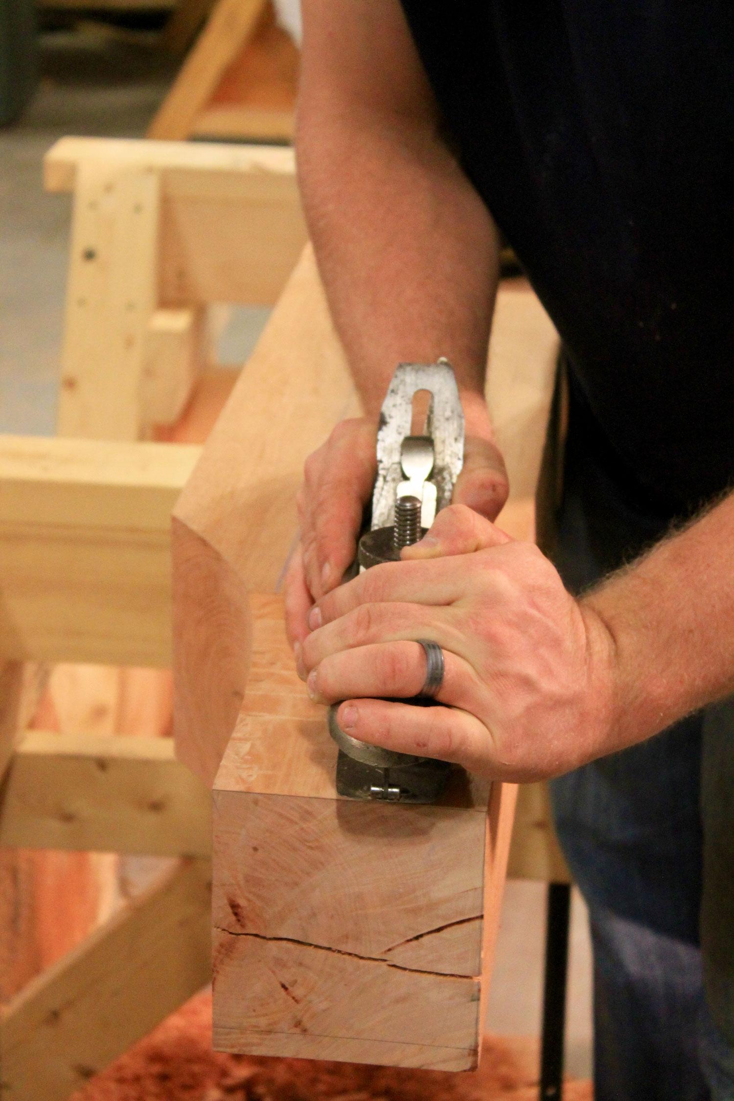 Hand planing - Berkshire Mountain Design Build, LLC