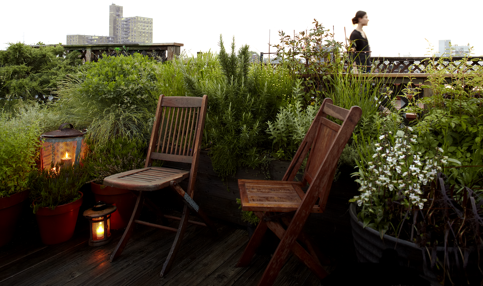 Brooklyn NYC rooftop garden