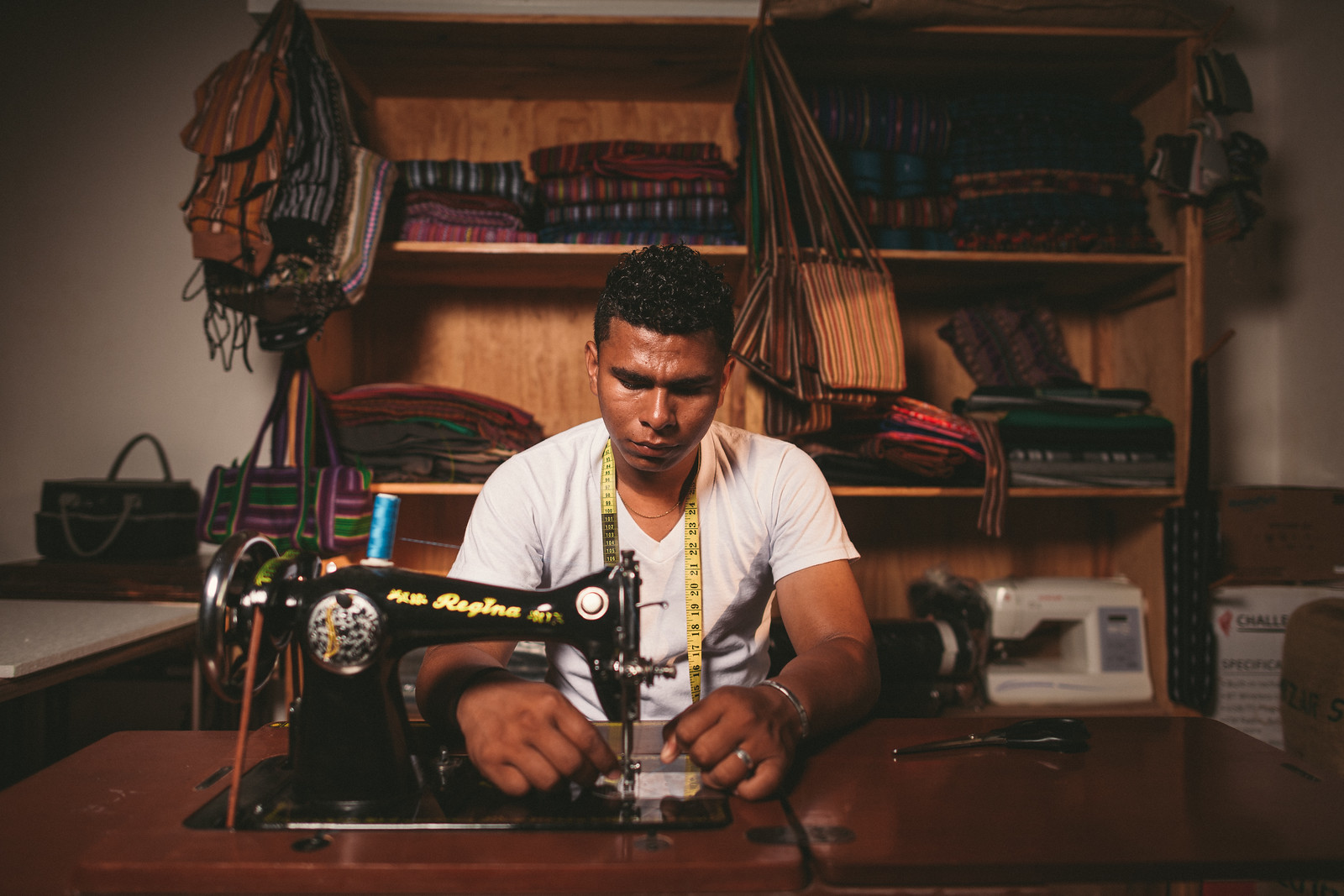 Deybin is an accomplished artisan with an eye for detail and beauty. His growing skills allow him to create new products for the international market.